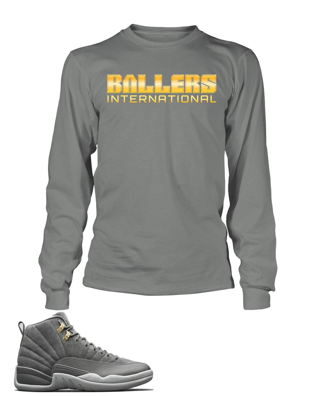 2907ef60fd5629 T Shirt To match Jordan 12 Cool Grey shoes Men s Tee Graphic Ballers Pro  Club T