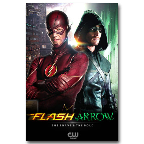 The Flash And Arrow TV Series Art Silk Wall Poster 13x20 inches