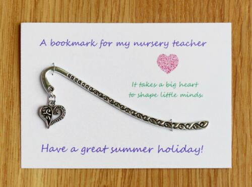 Nursery teacher Teacher gift Teaching Assistant  Bookmark Can be personalised.