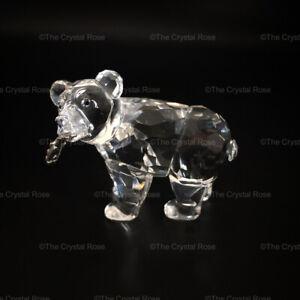 RARE-Retired-Swarovski-Crystal-Grizzly-Bear-Cub-with-Salmon-Fish-261925-Mint