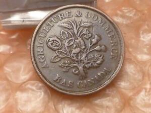 Lower-Canada-Bas-Canada-Bank-Du-Peuple-Montreal-Un-Sou-Token-1837-AA