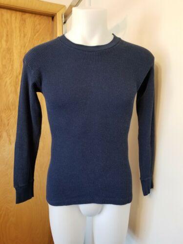 Vtg 80s Kmart blue thermal shirt M Medium 50/50 K