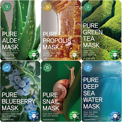 [TOSOWOONG] Pure Mask Pack (10pcs in a box) / Korean Cosmetics