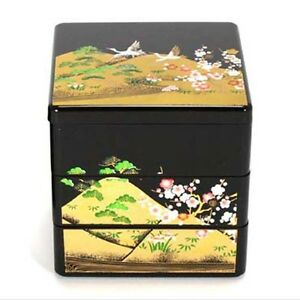 japanese lacquer stack lunch bento box 3 tiers 3 5 l emaki made in japan ebay. Black Bedroom Furniture Sets. Home Design Ideas