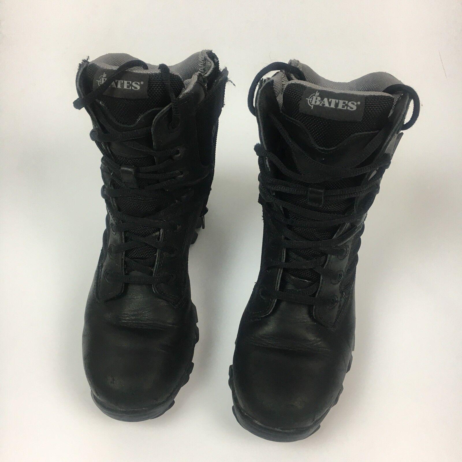 Bates E02788 Enforcer Black Leather Work Tactical Service Boots Size US 7