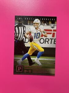 2020 Panini Chronicles Justin Herbert #PA-3 Rookie Card RC Los Angeles Chargers