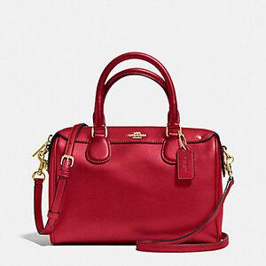 Paypal-COD-Coach-Bag-F36624-Mini-Bennet-Satchel-Crossgrain-Leather-Red-Agsbeagle