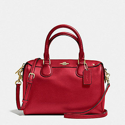 Coach Bag F36624 Mini Bennet Satchel Crossgrain Leather True Red COD Agsbeagle