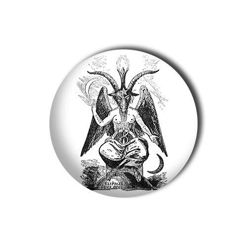 Baphomet 1 inch// 25mm Button Pin Badge Satan Beast Crowley La Vey Devil 666