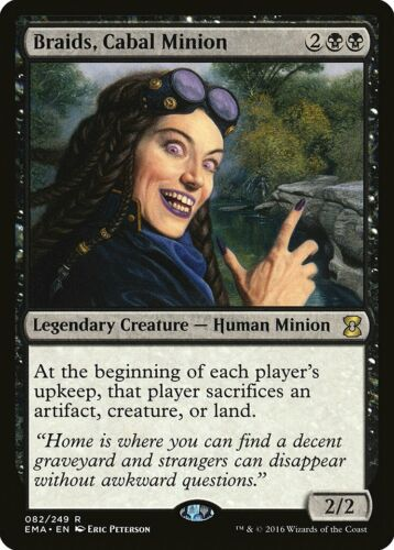 Braids Cabal Minion Eternal Masters NM Black Rare MAGIC MTG CARD ABUGames