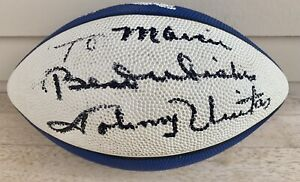 JOHNNY UNITAS Autographed SIGNED Football BALTIMORE COLTS Indianapolis WILSON