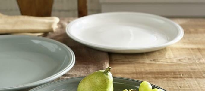 Pottery Barn Isabella Rond Serving Platter Ivoire NEUF