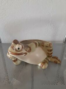 "Brush Mccoy Vintage Ceramic Lounging Frog  9"" Long"