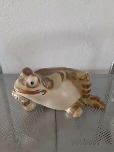 "Brush Mccoy Vintage Ceramic Lounging Frog  9"" Long"