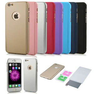 Luxury-360-Full-Protective-Case-Cover-With-Tempered-Glass-for-iphone-5-5S-SE-New