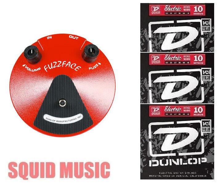 Dunlop Fuzz Face Guitar Effects Pedal JDF2 Germanium PNP ( 3 SETS OF STRINGS)