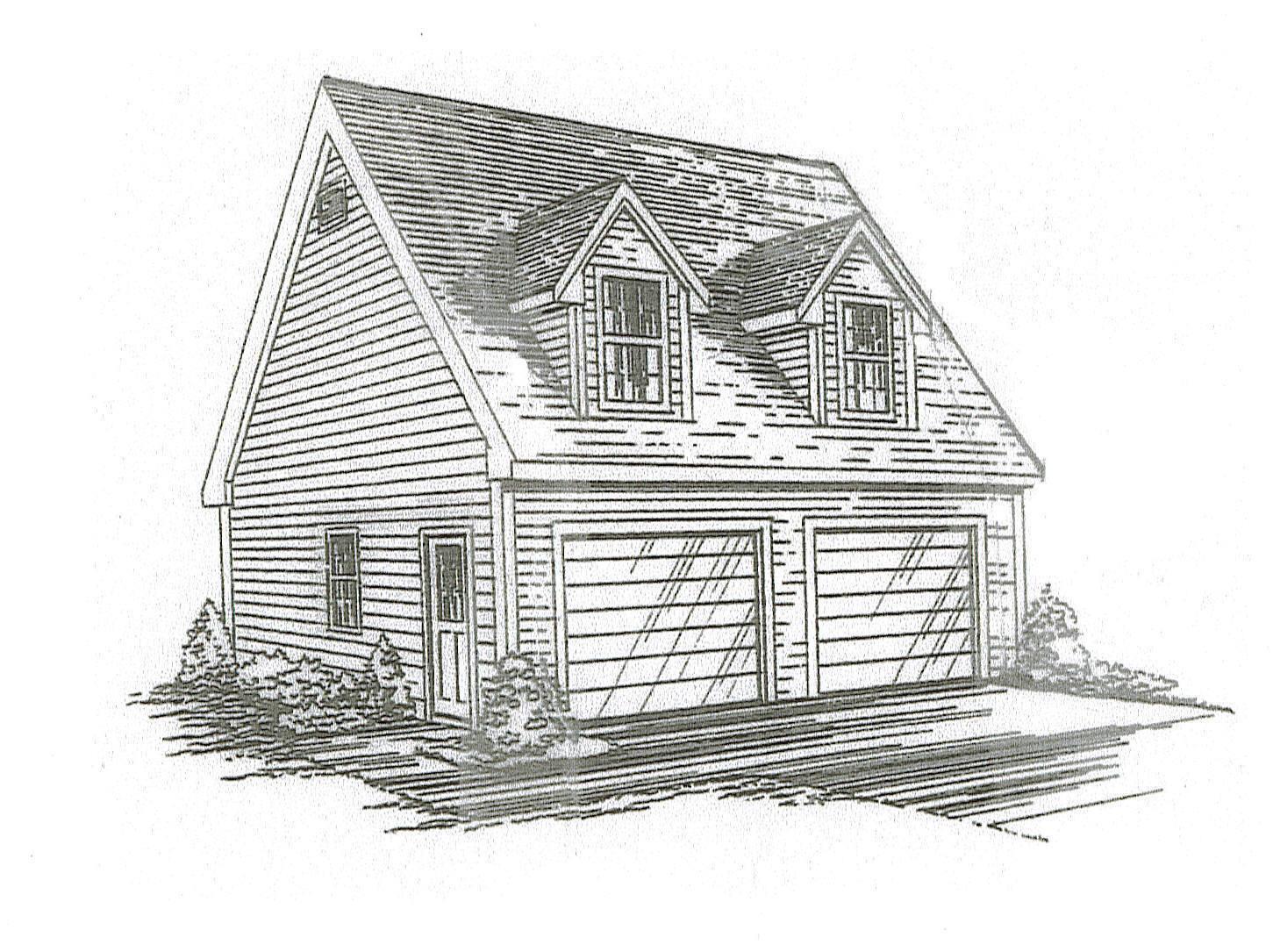 26 x x x 26 2 Car TD / LD Garage Building Blauprint Plans / Walk up Loft fb759a