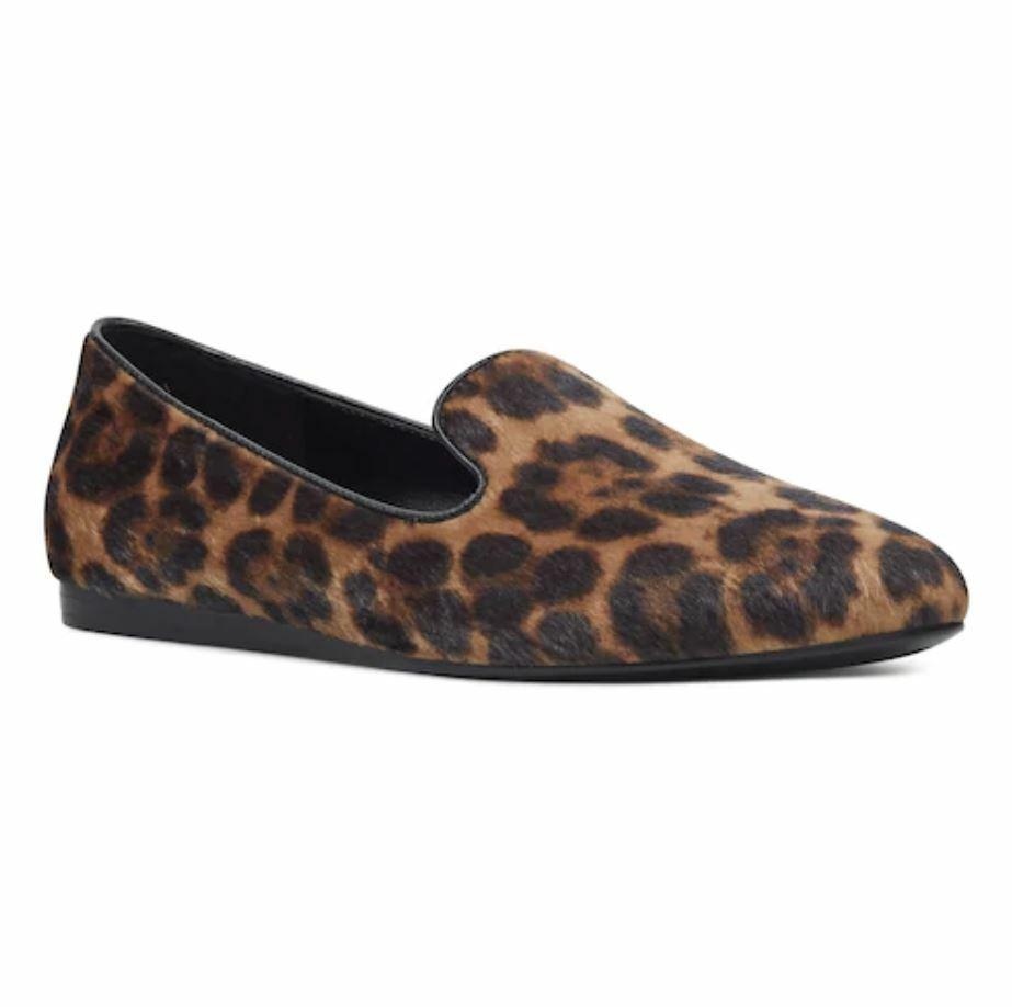 Nwt Damen Nine West Haydyn Spitz Zulaufend Slipper Größe Wählen Leopard