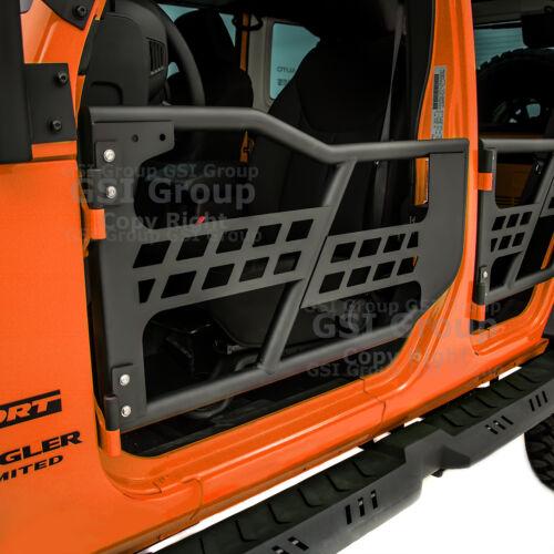Rock Crawler Body Armor Front+Rear Tubular 4 Door Set For 07-18 Jeep JK Wrangler