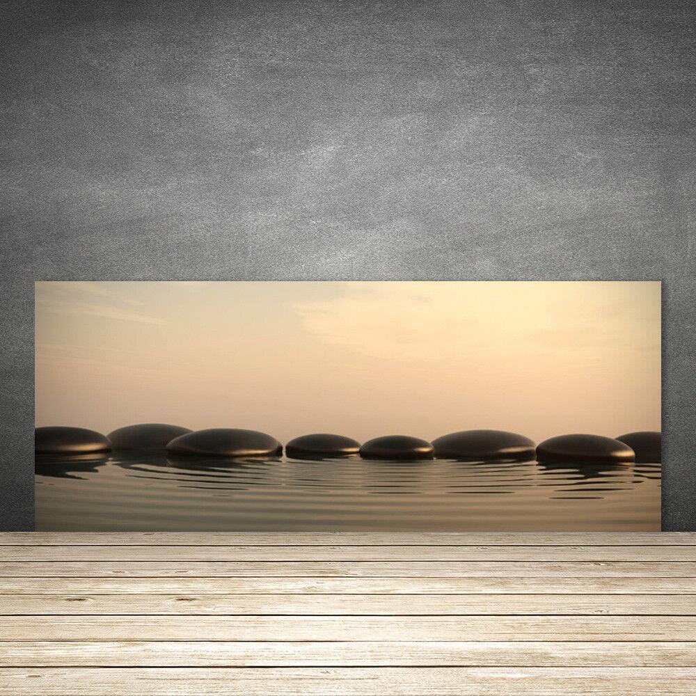 Crédence de cuisine en verre Panneau 125x50 Art Pierres Eau