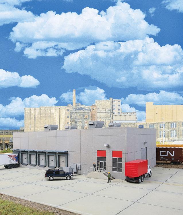 Spur H0 -- Bausatz moderne Lagerhalle   Spedition -- 4067 NEU  | Große Klassifizierung
