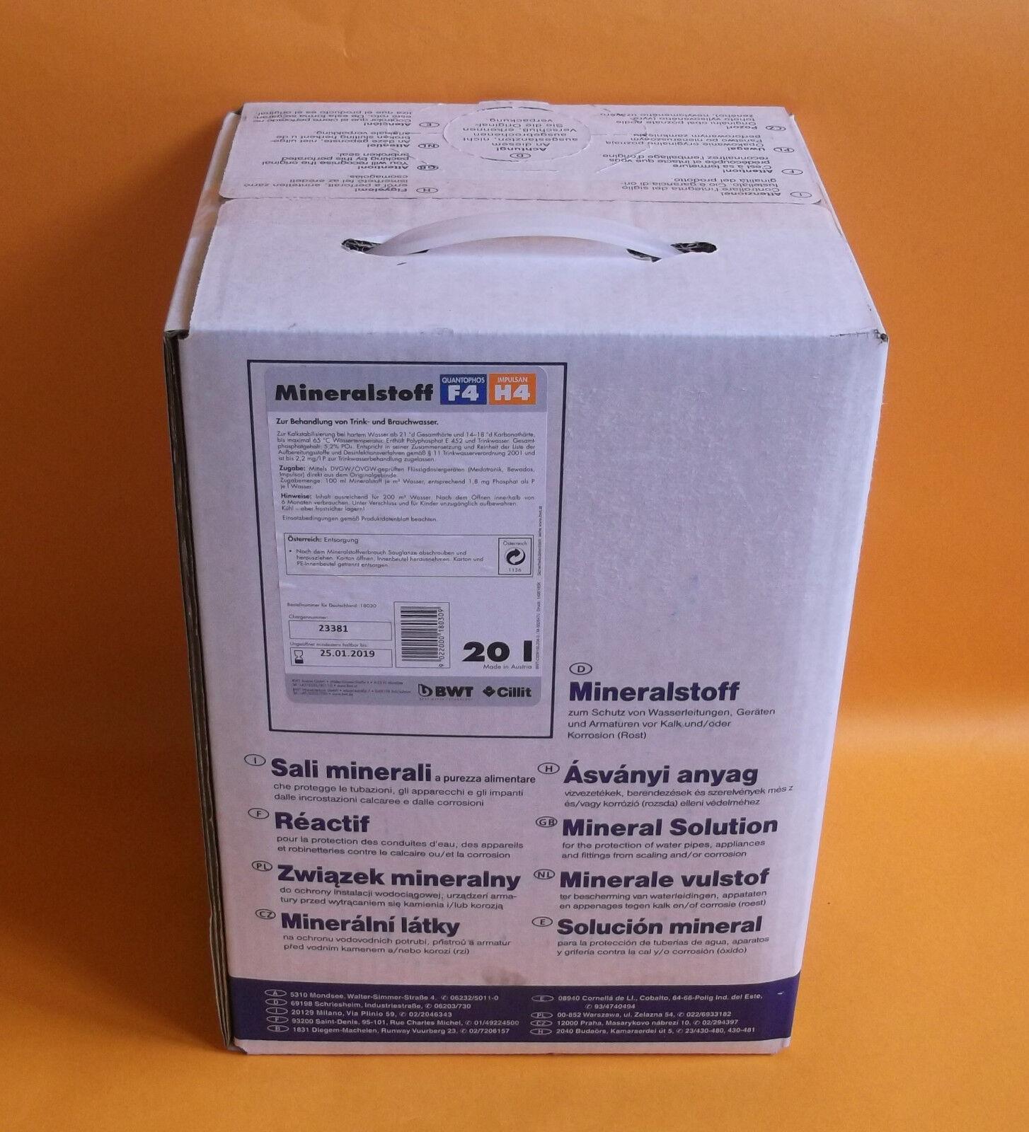 BWT 20 Liter  Dosiermittel Quantophos Impulsan  F4 H4  18030