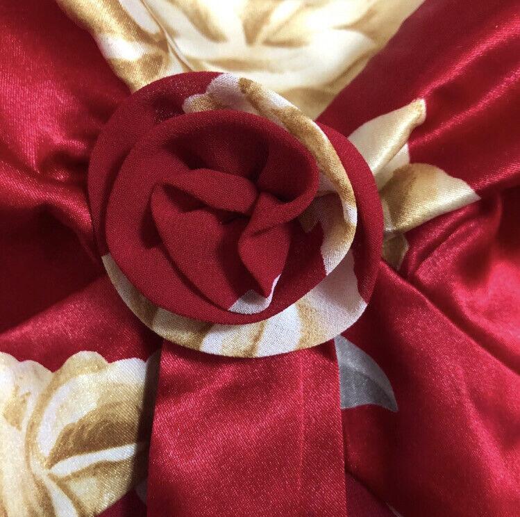 Victoria's Secret Floral Red Lingerie Slip Dress … - image 7
