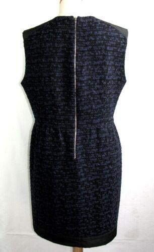 Sans 40 Robe Bleu Sandro amp; Tweed 3 Manches Originale Excl Nuit T Noir Etat ETqqP