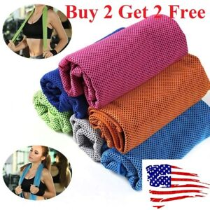 Buy 2 get 2 free ice Cooling Towel for Sports/Workout/Fitness/Gym/Yoga/Pilates