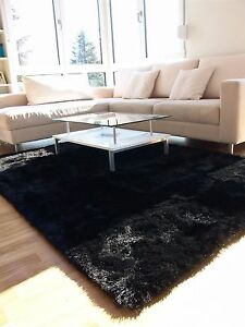Whisper Shaggy Rug Super Soft Black Silky Thick Living Room Bedroom Area Rugs Ebay