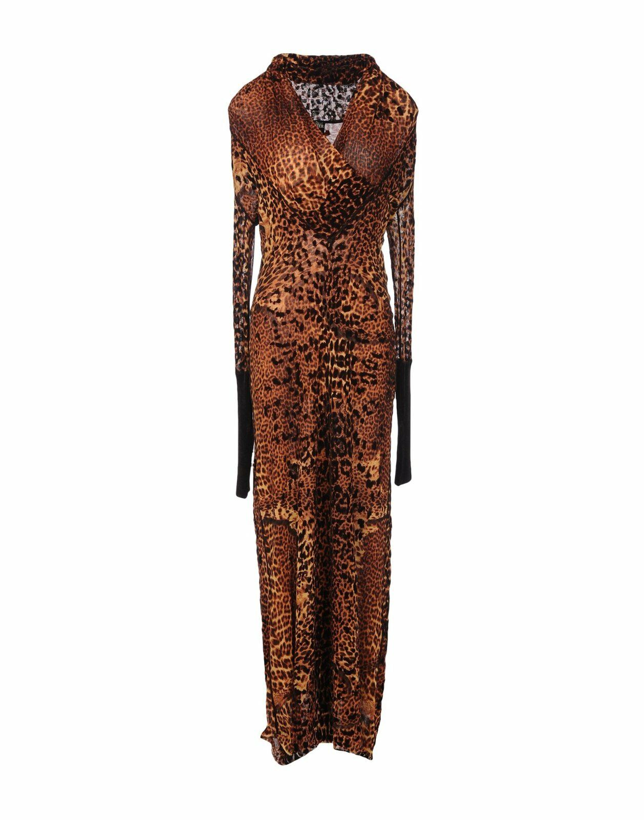 STUNNING, SOLD OUT, NWT ,295 JEAN PAUL GAULTIER LEOPARD PRINT MESH MAXI DRESS