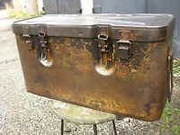 WW II Germany 1943 Metall TRANSPORT container 15 cm s.Fh.18