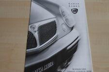 113343) Lancia Lybra - technische Daten & Ausstattungen - Prospekt 08/2001