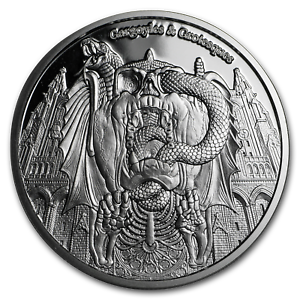 Decay SKU#151218 2017 Chad 1 oz Proof Silver Gargoyles and Grotesques