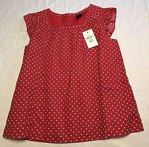 New-NWT-Baby-Gap-Red-White-Stars-Cap-Sleeve-Tank-Top-Short-Shift-Dress-Size-3T
