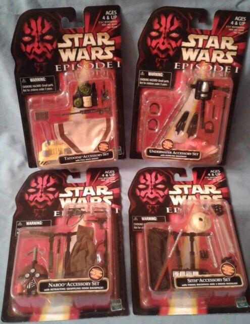 Star Wars Naboo, Sith, Tatooine, Underwater figure accessory sets, Hasbro sealed