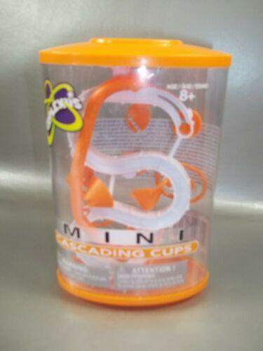 NIB PERPLEXUS ORANGE MINI CASCADING CUPS MARBLE CHALLENGE GAME SO MUCH FUN