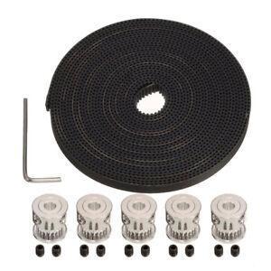 5pcs-GT2-20T-5mm-Bore-6mm-Width-Pulley-16-039-5-034-GT2-Timing-Belt-3D-Printer-Reprap