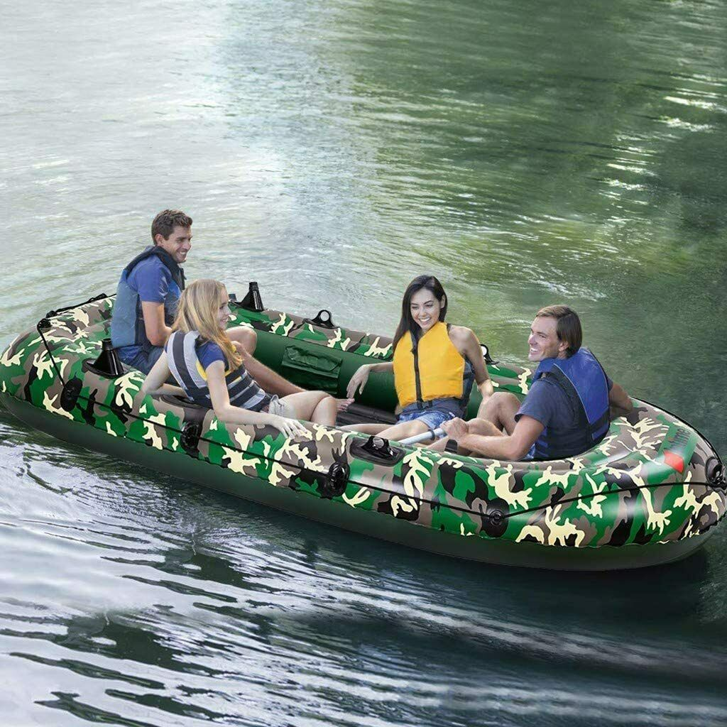 kayaking Inflatable 4 Person Floating Boat Raft Set with Oar