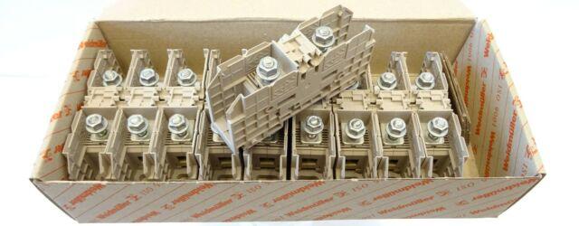 10x Weidmüller WFF 35 Bolzenklemme 35mm² Durchgangs-Reihenklemme 1028300000