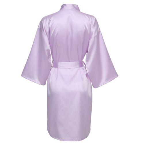 Woman/'s Plain Silk Satin Robes Bridal Wedding Bride Bridesmaid Robe Kimono Gown