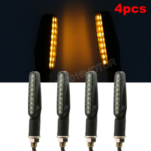 4 Motorcycle LED Turn Signal Indicator For Harley Sportster Softail Dyna Touring