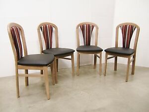 Image Is Loading New Set Of 4 Four Schoss Austrian Upholstered
