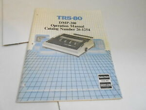 MISC-3405-1980s-TANDY-TRS80-DMP-200-OPERATION-MANUAL