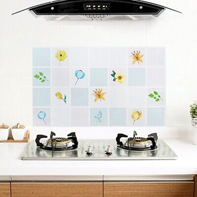 Home Kitchen Adhesive Oil Proof Stickers Wallpaper Waterproof Wall Sticker N3