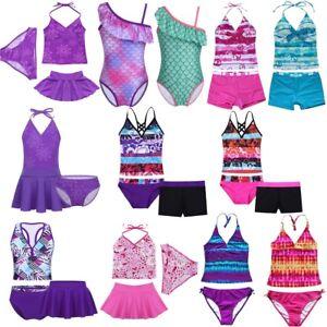 7ad36b8c34 Image is loading Girls-Kids-Toddlers-Swimsuit-Swimming-Costume-Childrens- Swimwear-