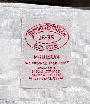 Brooks Bros. 16/35 Madison Fit Whit Non-Iron Supima Cotton 'Original Polo' Shirt