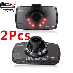 "2 x 1080P 2.3"" HD Car DVR Vehicle Dash Camera Crash Cam G-sensor Night Vision UB"