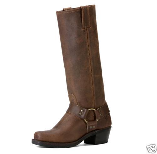 Women's Frye Boot 77329 TAN Harness 15R Tan