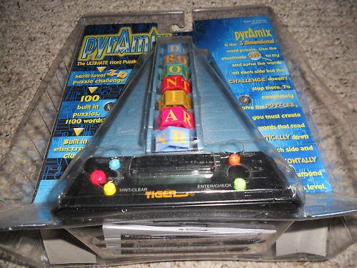 PYRAMIX Electronic Electronic Electronic Word Puzzle Game TIGER Handheld NEW 03b068